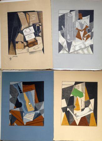 Libro Illustrato Gris  - Pierre Reverdy : AU SOLEIL DU PLAFOND. 11 LITHOGRAPHIES COULEURS (1955).
