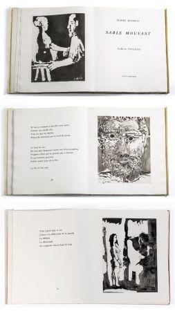 Libro Illustrato Picasso - Pierre Reverdy: SABLE MOUVANT. 10 aquatintes originales (1966).