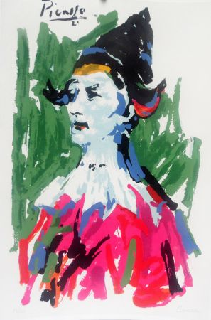Litografia Picasso (After) - Pierrot