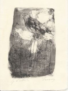 Litografia Jansem - Pigeons