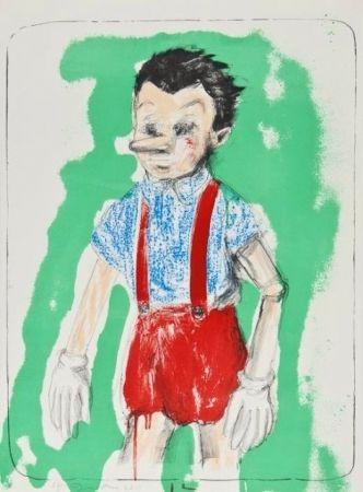 Litografia Dine - Pinocchio Coming From The Green
