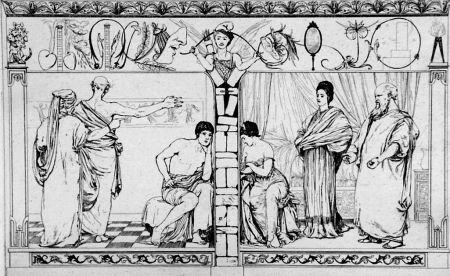 Acquaforte E Acquatinta Klinger - Piramo e Tisbe I(foglio 2a)
