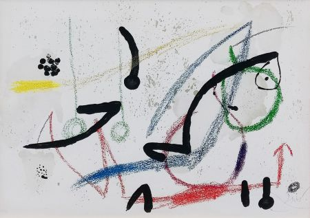 Litografia Miró - PL. 9 (FROM MARAVILLAS CON VARIACIONES ACRÓSTICAS EN EL JARDIN DE MIRO)