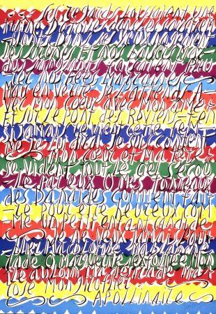 Litografia Cortot - Placard Apollinaire