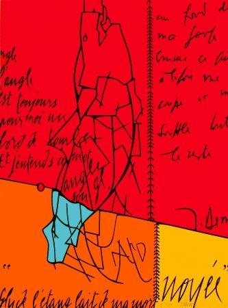 Litografia Adami - Placard Derrida