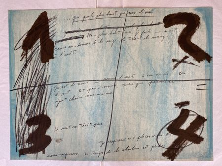 Litografia Tàpies - Placards
