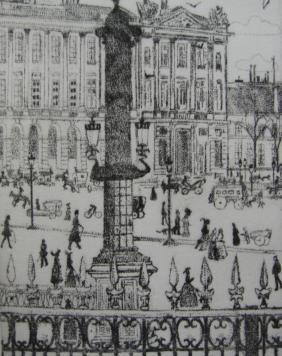 Incisione Vrieslander - Place de la Concorde