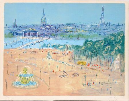 Litografia Dufy - Place de la Concorde