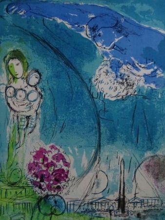 Litografia Chagall - Place de la Concorde 1952