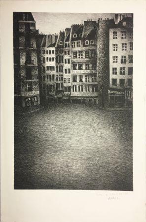 Litografia Avati - PLACE MAUBERT (1951)