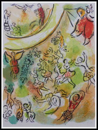 Litografia Chagall - PLAFOND DE L'OPERA GARNIER