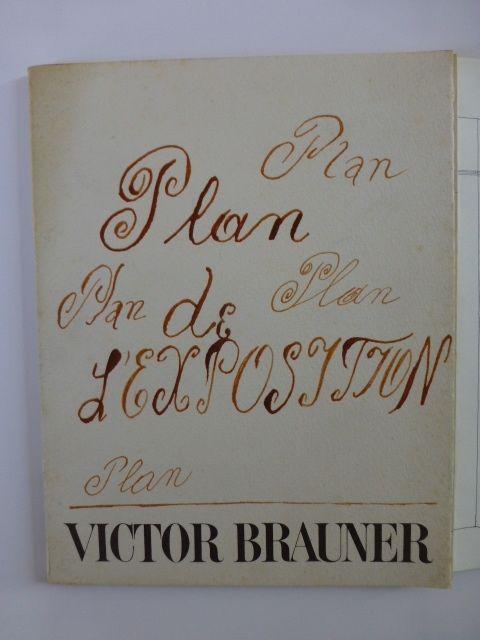 Libro Illustrato Brauner - Plan de l'exposition galerie Iolas 1966
