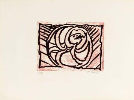 Litografia Alechinsky - Planche V de la suite lino-litho