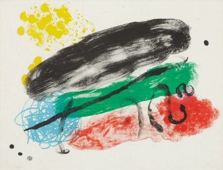 Litografia Miró - Plate 16, from Album 19