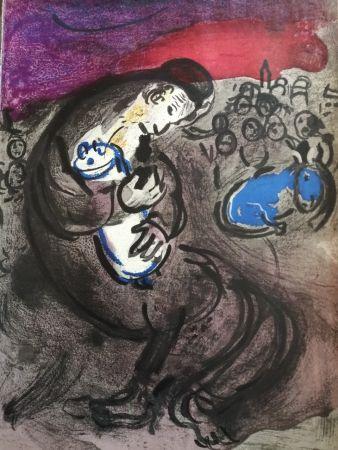 Litografia Chagall - Pleurs de Jérémie