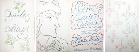 Libro Illustrato Matisse - POÈMES DE CHARLES D'ORLÉANS 54 lithographies par Henri Matisse (1950).