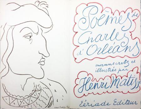 Libro Illustrato Matisse - POÈMES DE CHARLES D'ORLÉANS, manuscrits et illustrés par Henri Matisse (Tériade 1950)
