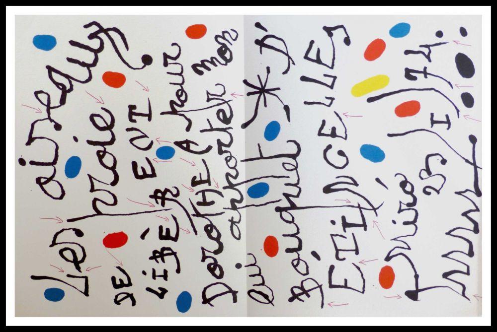 Litografia Miró - Poème pour Dorothea Tanning