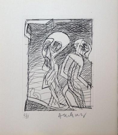 Acquaforte Alechinsky - Poèmes à peine poèmes