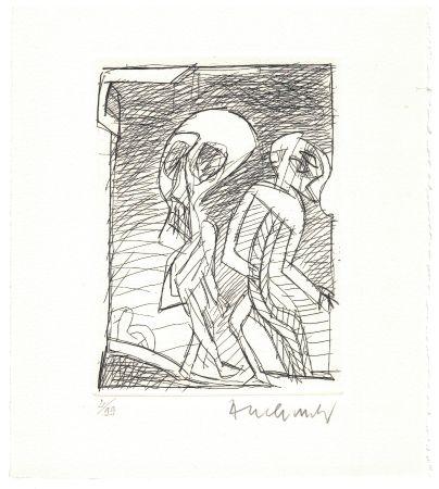 Acquaforte Alechinsky - '' Poèmes à peine poèmes ''
