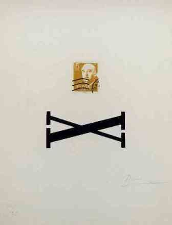 Serigrafia Brossa - Poema Visual - Franco