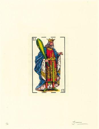 Litografia Brossa - Poema visual 32