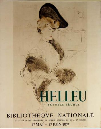 Litografia Helleu - Pointes  Seches  Bibliotheque Nationale
