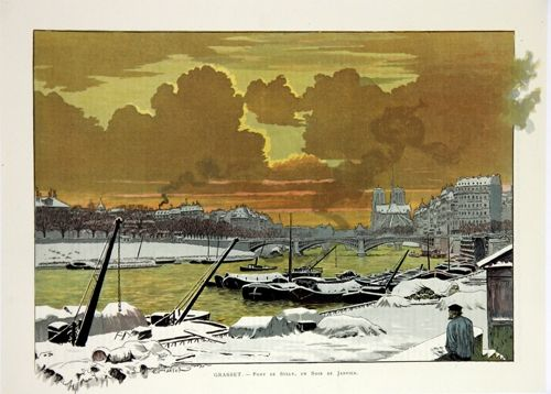 Litografia Grasset - Pont de Sully
