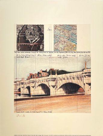 Litografia Christo - Pont neuf, Paris