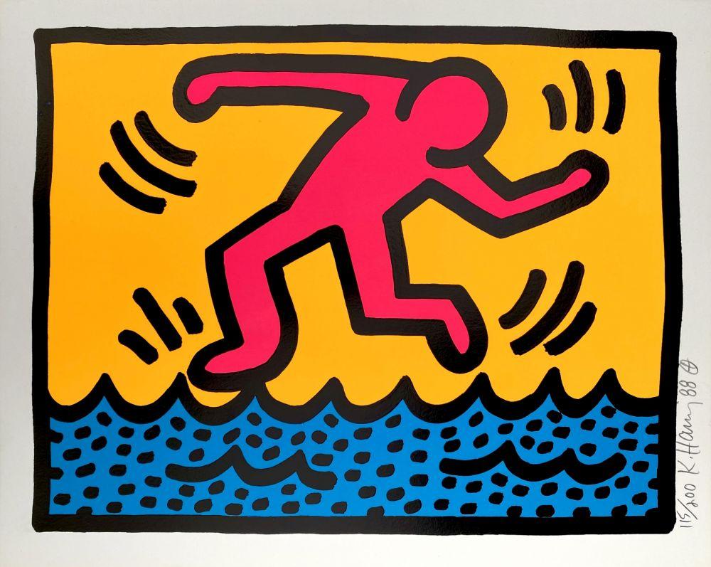 Serigrafia Haring - Pop Shop II, C
