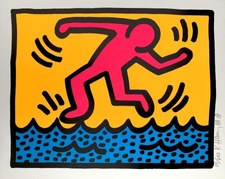 Serigrafia Haring - Pop Shop II, C