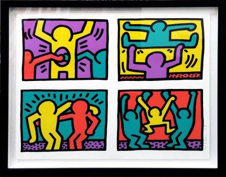 Serigrafia Haring - POP SHOP QUAD I