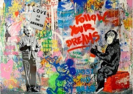 Serigrafia Mr. Brainwash - Pop Wall, 2018