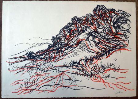 Litografia Guttuso - Portella delle Ginestre