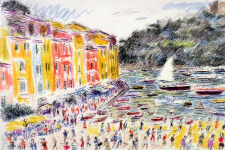 Litografia Cascella - Portofino