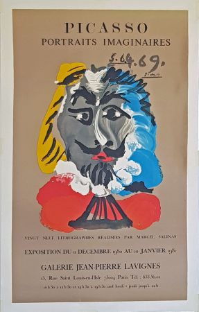 Litografia Picasso - Portrais Imaginaires