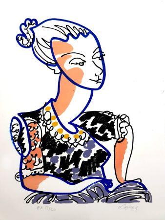 Litografia Lapicque - Portrait