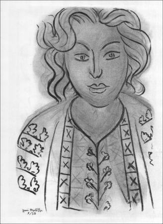 Litografia Matisse - Portrait. 1938.
