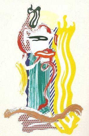 Serigrafia Lichtenstein - Portrait, Brushstrokes