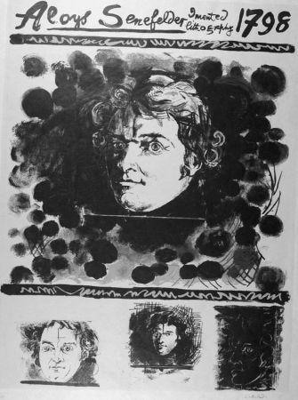Litografia Sutherland - Portrait d'Aloyis Senefelder