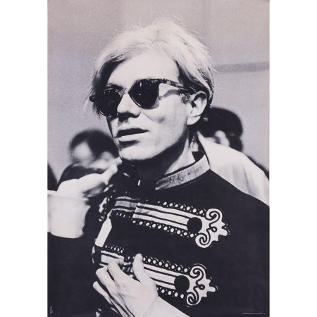 Manifesti Warhol - Portrait d'Andy Warhol en costume d'officier