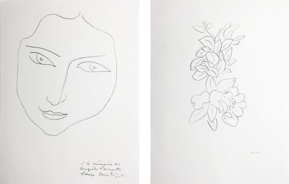 Litografia Matisse - PORTRAIT D'ANGÈLE (1943)
