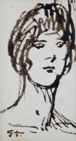 Non Tecnico Steinlen - Portrait de femme
