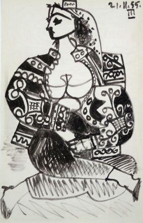Litografia Picasso - Portrait De Femme