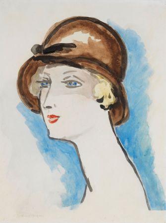 Litografia Van Dongen - Portrait de Femme, 1925-30