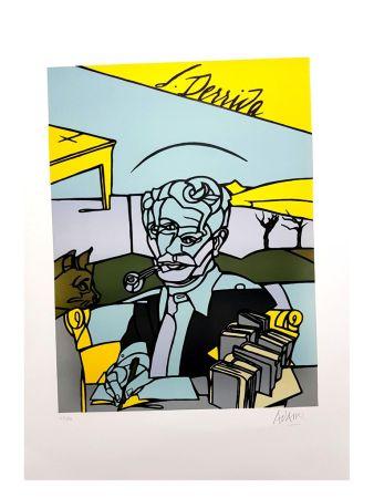 Litografia Adami - Portrait de Jacques Derrida