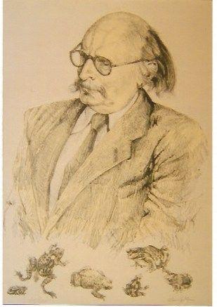Litografia Foujita - Portrait de Jean Rostand