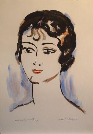 Litografia Van Dongen - Portrait de Jeune Femme