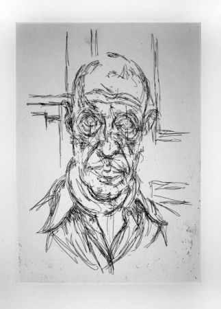 Incisione Giacometti - Portrait de Michel Leiris