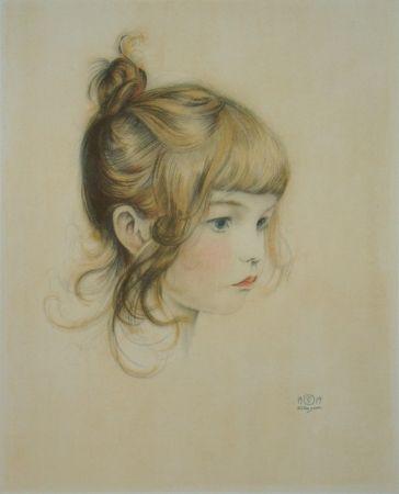Litografia Sauer - Portrait de Nicole